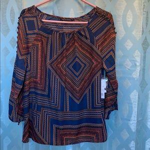 Zac & Rachel 3/4 sleeve, medium 100% polyester top